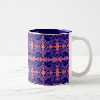 peachy fractal Two-Tone coffee mug