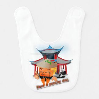 Peachy in China Bib