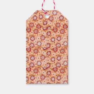 Peachy Orange Phlox Posies Garden Gift Tags