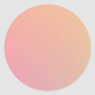 Peachy Pink Classic Round Sticker