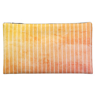 """""""Peachy-Sunset"""" -Stripes-Med- Cosmetic Bags"""