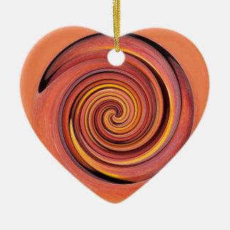 Peachy twirl christmas ornament
