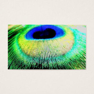 Peackock Feather Business Card