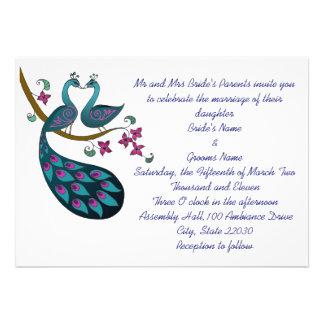 Peacock -1 Wedding Invite