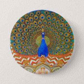Peacock 7.5 Cm Round Badge