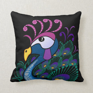 Peacock Accent Pillow Throw Cushions