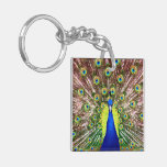 PEACOCK ACRYLIC KEY CHAINS