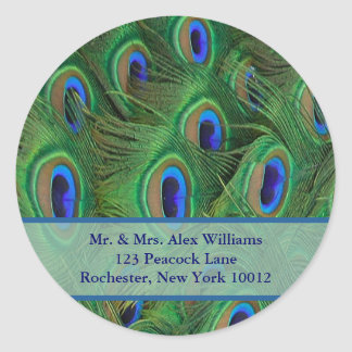 Peacock Address or Save the Date Label