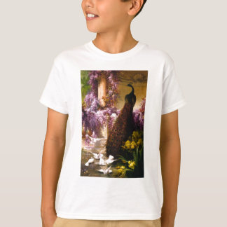 Peacock and Doves in a Garden T-Shirt