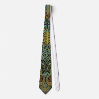 Peacock and Dragon William Morris Tapestry Design Tie