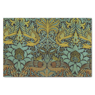 Peacock and Dragon William Morris Tapestry Design Tissue Paper