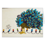 Peacock and Lights Card