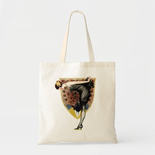 Peacock and Pin Up Tote Bag