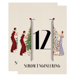 Art nouveau christmas cards invitations for 12 days of christmas table numbers