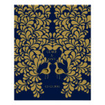 Peacock Art Deco wedding signing guest book