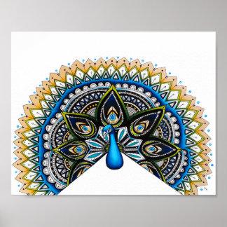Peacock Art Poster