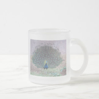 Peacock at the Jerusalem Zoo Frosted Glass Mug