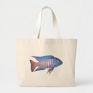 Peacock - Aulonocara sp. Canvas Bags