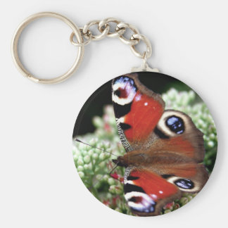 Peacock Basic Round Button Key Ring
