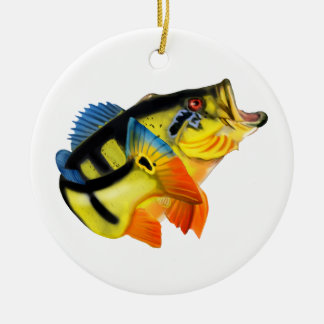 Peacock Bass Christmas Ornament
