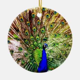 Peacock Beautiful Green Bird Animal Royal Luxury S Christmas Ornament