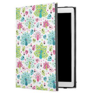 "peacock bird and owl iPad pro 12.9"" case"