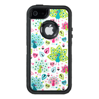 peacock bird and owl OtterBox defender iPhone case