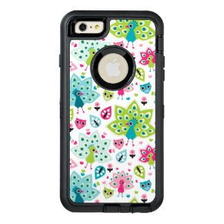 peacock bird and owl OtterBox iPhone 6/6s plus case
