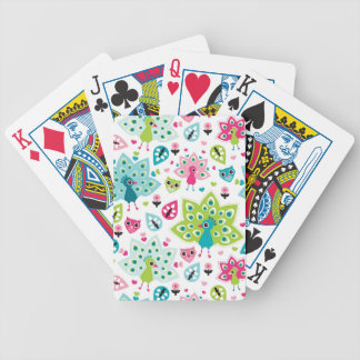 peacock bird and owl poker deck