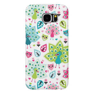peacock bird and owl samsung galaxy s6 cases