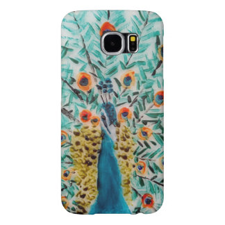 Peacock Bird Artwork Samsung Galaxy S6 Cases
