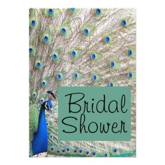 Peacock Bird Bridal Shower Invitation