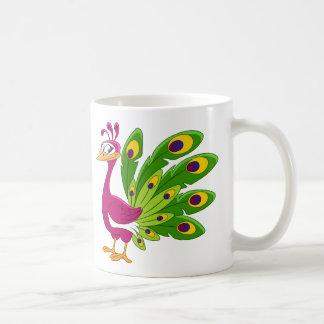 Peacock bird coffee mug