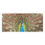 Peacock bird feathers photo custom name bookmark full colour rack card
