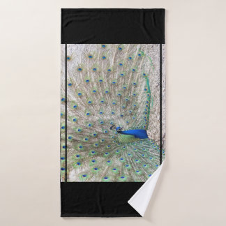 Peacock Bird Feathers Wildlife Animal Wash Cloth