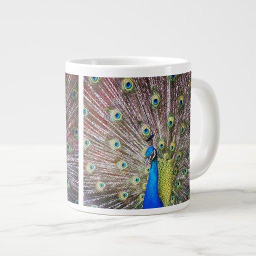Peacock Bird Jumbo Mug