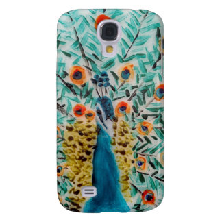 Peacock Bird Painting Galaxy S4 Case