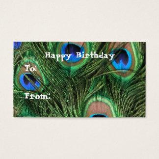 Peacock Birthday Gift Tags