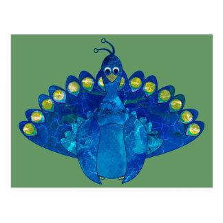 Peacock Blu Postcard
