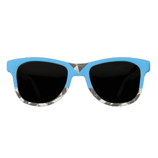Peacock Blue Abstract Sunglasses