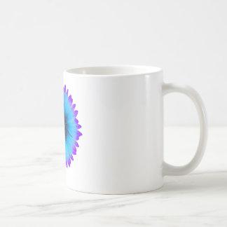 Peacock Blue and Purple Flower Basic White Mug