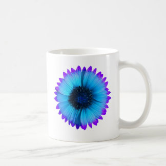 Peacock Blue and Purple Flower Mug