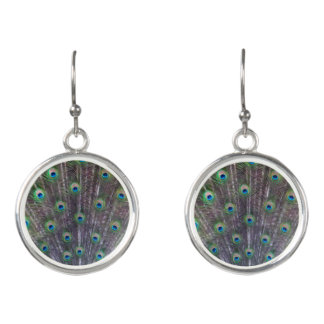 Peacock Blue Drop Earrings