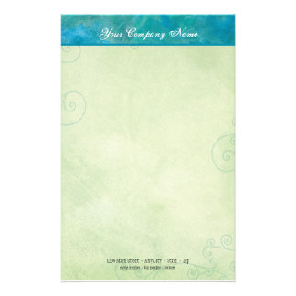 Peacock Blue & Green Business Stationery