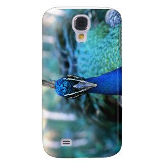 Peacock blue head on image galaxy s4 case