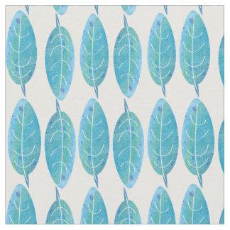 Peacock blue modern watercolor leaf design