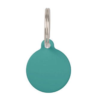 Peacock Blue Solid Color Pet ID Tag