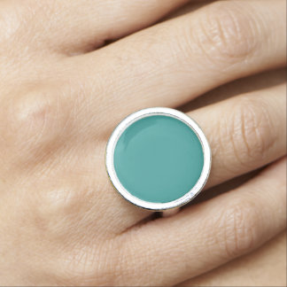 Peacock Blue Solid Color Ring