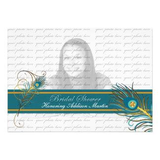 Peacock Bridal Shower Photo Invitation