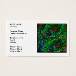 Peacock. Business Card